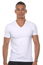 IMPETUS COTTON STRETCH T-Shirt V-Neck auf oboy.de