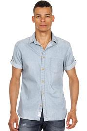 ESPRIT Jeans-Kurzarmhemd slim fit