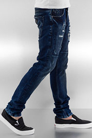 BANGASTIC Skull II Straight Fit Jeans Blue auf oboy.de