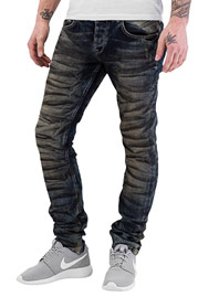 BANGASTIC Dirty Skinny Fit Jeans Blue auf oboy.de