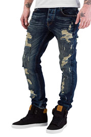 BANGASTIC Destroyed Slim Fit Jeans Blue auf oboy.de
