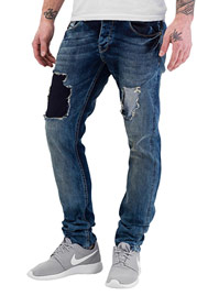 BANGASTIC Washed Straight Fit Jeans Light Blue auf oboy.de