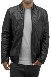 BANGASTIC Classic PU Leather Jacket Black auf oboy.de