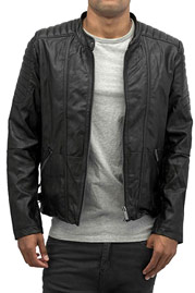 BANGASTIC Perforated PU Leather Jacket Black auf oboy.de