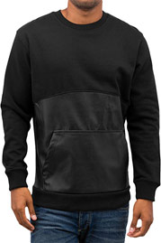 BANGASTIC PU Leather Sweater Black auf oboy.de
