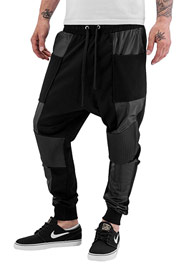 BANGASTIC PU Sweat Pants Black auf oboy.de