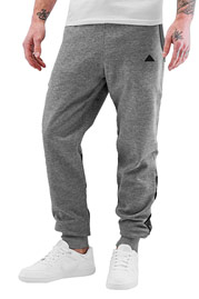 BANGASTIC Pu Sweat Pants Grey Melange/Black auf oboy.de