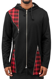 BANGASTIC Plaid Zip Hoody Black auf oboy.de