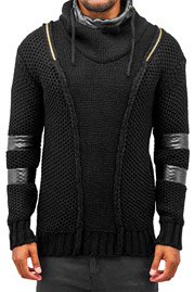 BANGASTIC Knitted Force Hoody Black auf oboy.de