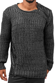 BANGASTIC Knit Pullover Anthracite auf oboy.de