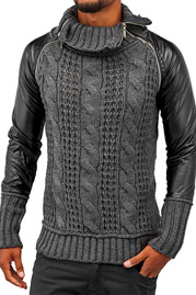 BANGASTIC Knit Sweater Anthracite auf oboy.de