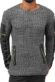 BANGASTIC PU Knit Sweater Anthracite auf oboy.de