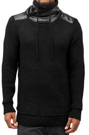 BANGASTIC Knitted Sweater Black auf oboy.de