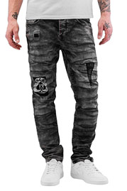 BANGASTIC Slim Fit Jeans Black Wash auf oboy.de