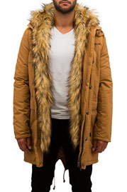 BANGASTIC Fake Fur Jacket Brown auf oboy.de