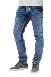 CAZZY CLANG Acid Wash Straight Fit Jeans Blue auf oboy.de