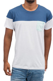 CAZZY CLANG Pocket T-Shirt White/Blue auf oboy.de