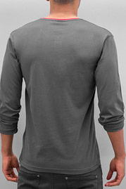 CAZZY CLANG Button Tape Longsleeve Grey/Red auf oboy.de
