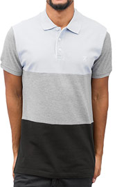 CAZZY CLANG Polo Shirt Blue/Grey/Black auf oboy.de