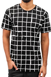 CAZZY CLANG Checked T-Shirt Black auf oboy.de