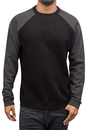 CYPRIME Two Tone Sweatshirt Black/Anthracite auf oboy.de