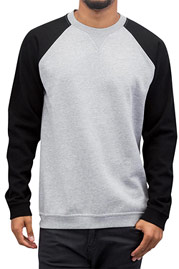 CYPRIME Two Tone Sweatshirt Grey Melange/Black auf oboy.de