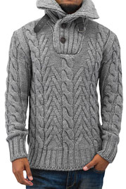 JUST RHYSE And Friends Talin Sweater Grey auf oboy.de