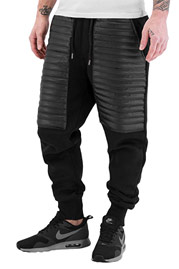 JUST RHYSE PU Sweat Pants Black auf oboy.de