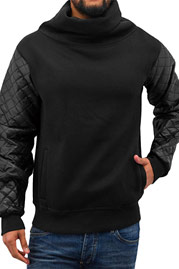 JUST RHYSE Mock Neck Pullover Black auf oboy.de