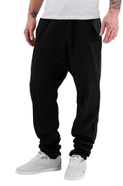 JUST RHYSE PU Pocket Sweat Pants Black auf oboy.de