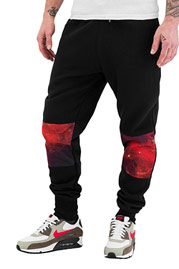 JUST RHYSE Mesh Sweat Pants Black auf oboy.de