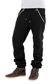 JUST RHYSE Rasco Zip Sweat Pants Black auf oboy.de
