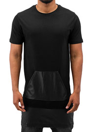 JUST RHYSE PU T-Shirt Black auf oboy.de
