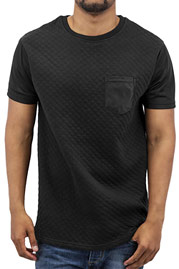 JUST RHYSE Quilted T-Shirt Black auf oboy.de