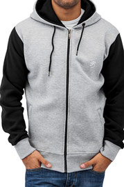 JUST RHYSE 2 Tone Time Zip Hoody Grey auf oboy.de