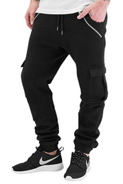 JUST RHYSE Cargo Sweat Pants Black auf oboy.de