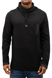 JUST RHYSE High Neck Longsleeve Black auf oboy.de