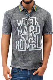 JUST RHYSE Work Hard Polo Shirt Black auf oboy.de