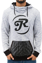 JUST RHYSE Logo Knit Hoody Blue/White auf oboy.de