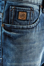 JUST RHYSE Patch Straight Fit Jeans Blue auf oboy.de