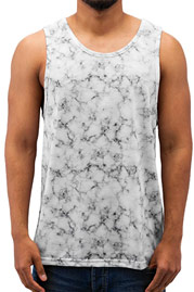JUST RHYSE Marble Tank Top White auf oboy.de