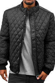 JUST RHYSE Quilt Winter Jacket Black auf oboy.de