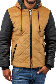 JUST RHYSE Quilted Winter Jacket Beige/Black auf oboy.de