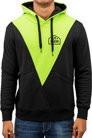 JUST RHYSE Triangle Hoody Black/Green auf oboy.de