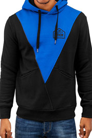 JUST RHYSE Triangle Hoody Black/Blue auf oboy.de