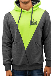JUST RHYSE Triangle Hoody Charcoal/Green auf oboy.de