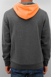 JUST RHYSE Triangle Hoody Charcoal/Orange auf oboy.de