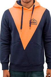 JUST RHYSE Triangle Hoody Navy/Orange auf oboy.de