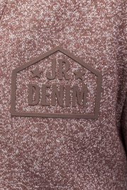 JUST RHYSE Denim Sweatshirt Brown Melange auf oboy.de