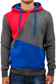JUST RHYSE Three Tone Hoody Red auf oboy.de